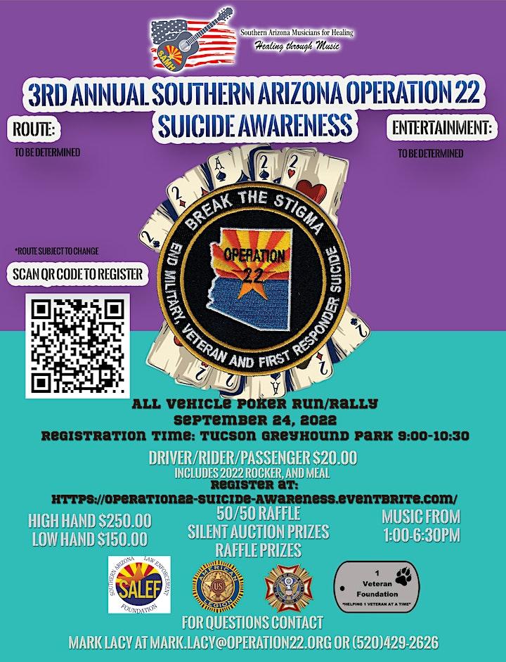 Southern Arizona Operation 22 Suicide Awareness Poker Run/Rally image