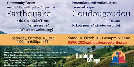 Community Forum on the Aftermath of the August 14 Earthquake tickets