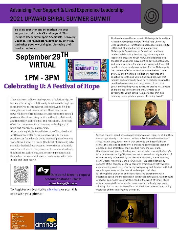 Upward Spiral Summer Summit:  Celebrating You - A Festival of Hope! image