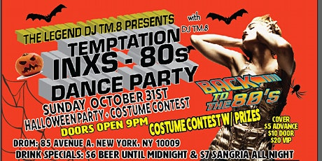 DJ TM.8's  Halloween Bash 80s Dance Party @ DROM (Oct 31, 2021) tickets