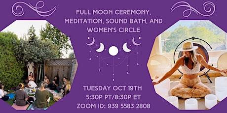 Free Virtual Full Moon Ceremony, Meditation, and Sound Bath tickets