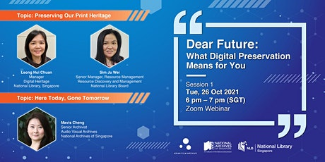 [Session 1] Dear Future: What Digital Preservation Means for You tickets