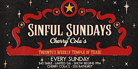 Sinful Sundays Burlesque tickets