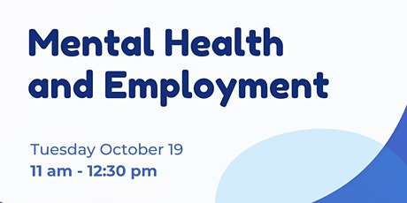 Mental Health and Employment Q&A with Justin Thompson tickets