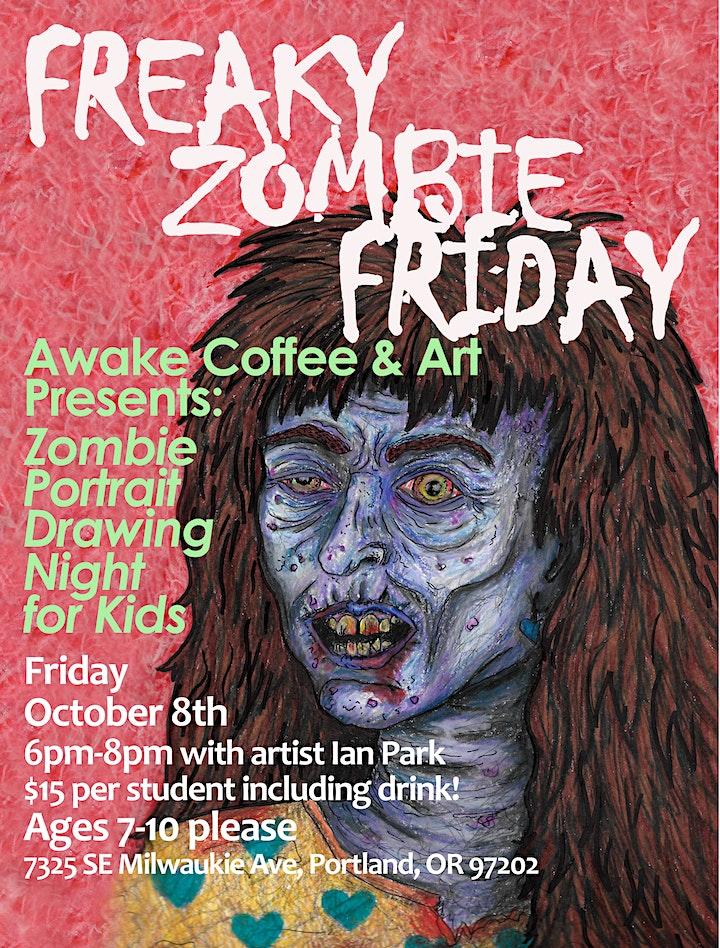 Freaky Zombie Friday at Awake Coffee & Art image