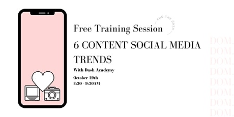 6 Content Social Media Trends for 2022 | Workshop Tickets