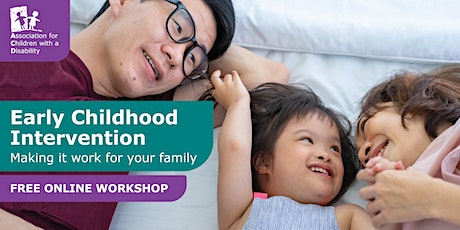 Early Childhood Intervention - Thu 11th Nov 1pm tickets