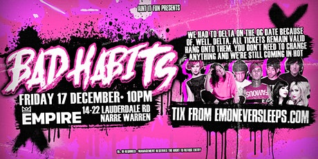 Bad Habits | Narre Warren Emo Night - December 17 tickets