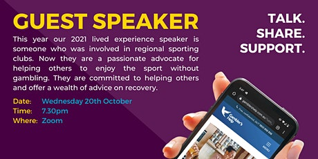Lived experience speaker tickets
