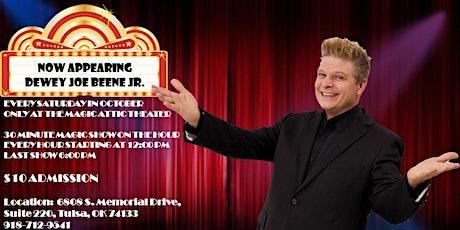 Comedy Magician Dewey Joe Beene Jr.   Appearing at the Magic Attic Theater tickets
