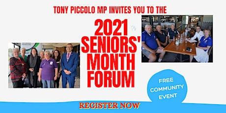 2021 Senior's Month Forum tickets