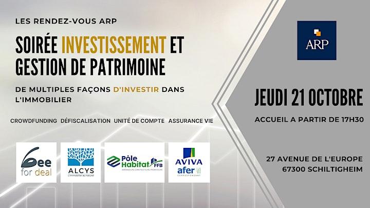 Image pour Soirée Investissement et Gestion de Patrimoine
