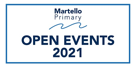 Martello Primary Open Evening - Wednesday 10th November 2021 5-6pm tickets