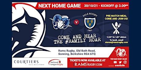 Rams RFC 1st XV vs Sale FC tickets