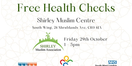 Free Health Check at Shirley Muslim Centre tickets