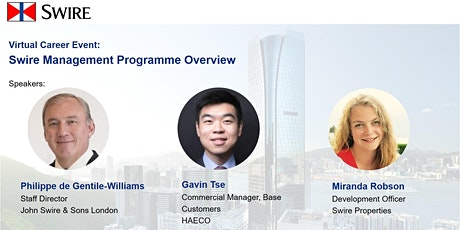 Swire Management Programme Overview tickets