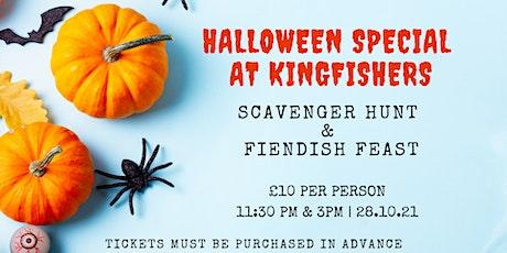 Halloween Scavenger Hunt & Fiendish Feast at Kingfishers tickets