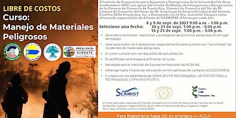 Curso: Manejo de Materiales Peligrosos - Dictado en Español entradas