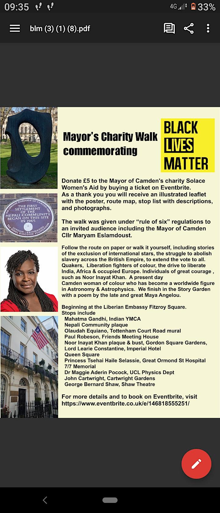 Black History Month Walks In Camden Borough image
