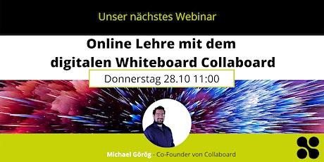 Online Lehre mit dem digitalen Whiteboard Collaboard Tickets