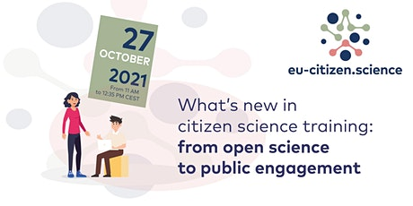 What's new in citizen science training: from open science to engagement tickets