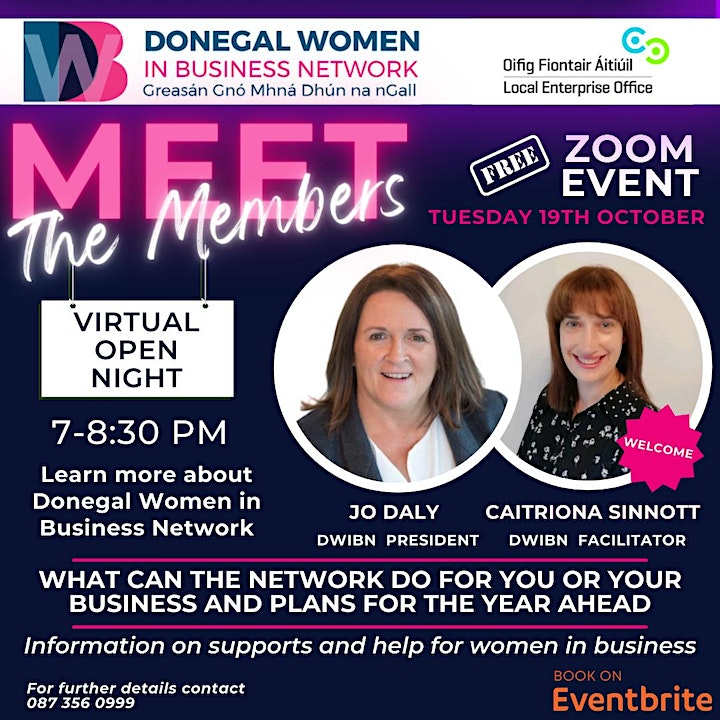 Donegal Women in Business Network Virtual Open Night image