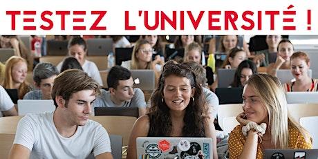 """""""TESTEZ L'UNIVERSITÉ"""" UCO - NANTES 26-27 OCTOBRE et 2-3 NOVEMBRE 2021 billets"""