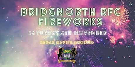 BRIDGNORTH RFC FIREWORKS DISPLAY tickets