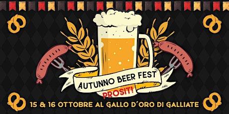 Autunno Beer Fest, Prosit! biglietti