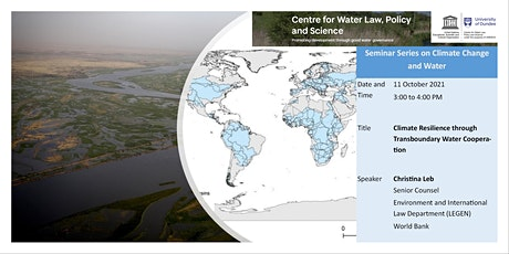 Climate Resilience through Transboundary Water Cooperation tickets