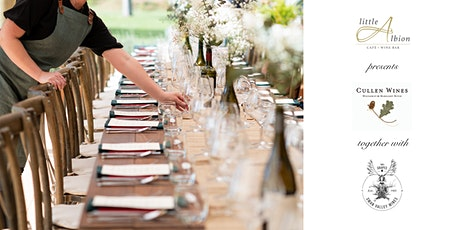 Seven Course Dégustation Long Lunch with Cullen and Swan Valley Wines. tickets