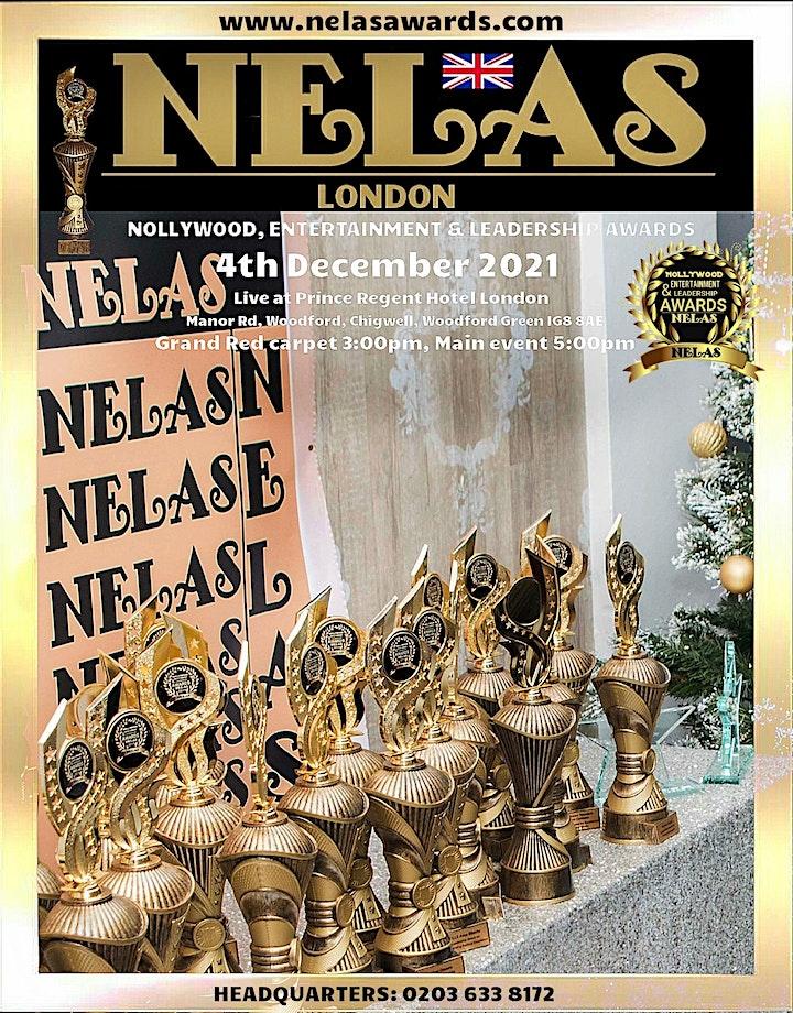 NELAS Awards 2021, 4TH DEC: live at Prince Regent five star Hotel, London image