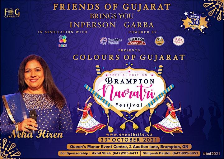 Colours of Gujarat Special Edition Brampton Navratri Festival 2021 image