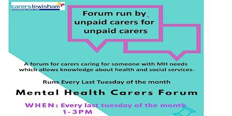 Lewisham Mental Health carers forum tickets