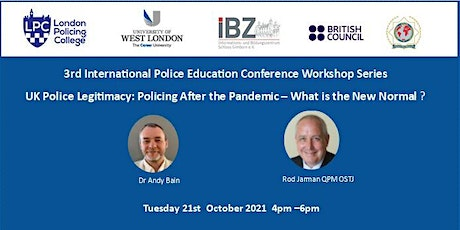 UK Police Legitimacy: Policing After the Pandemic tickets