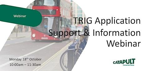 TRIG Application Support & Information Webinar boletos