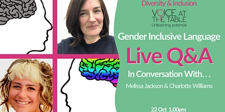 Diversity and Inclusion Q&A  LIVE: Gender Inclusive Language tickets
