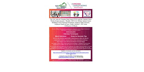 Military Spouse Career Building Workshop tickets