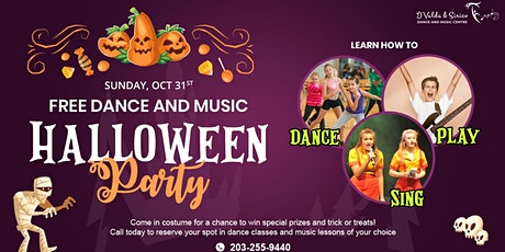 Free Dance and Music Halloween Party Sunday Oct 31st - 9:00am until 12:00pm tickets