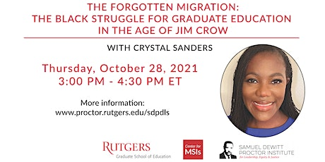 The Samuel DeWitt Proctor Distinguished Lecture Series with Crystal Sanders tickets