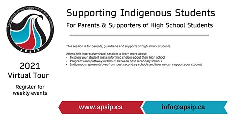 Supporting Indigenous Students: Parents/Supporters of High School Students tickets