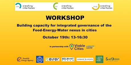 Workshop: Governance & Capacity building -  Urban 'Food-Energy-Water Nexus' tickets
