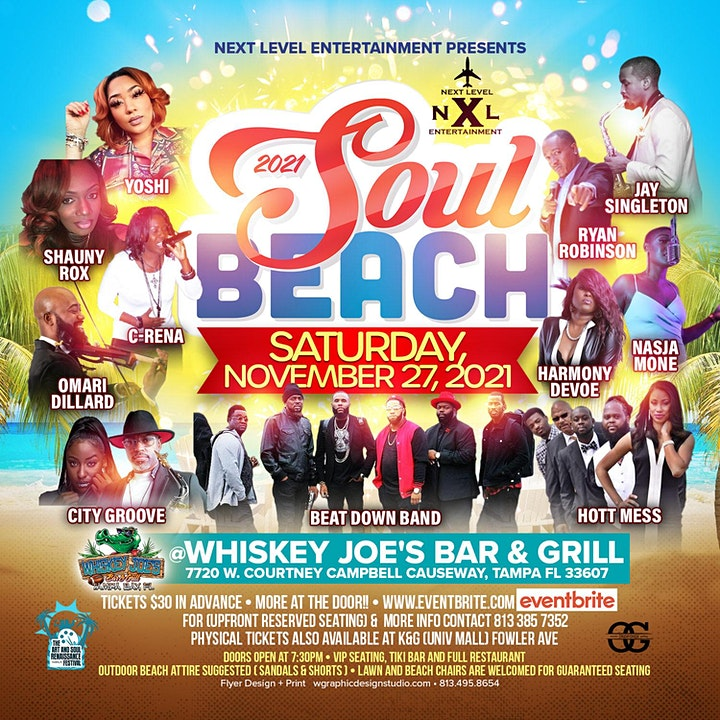 Soul Beach 2021: The Outdoor R&b / Jazz Concert & Comedy on the Water image