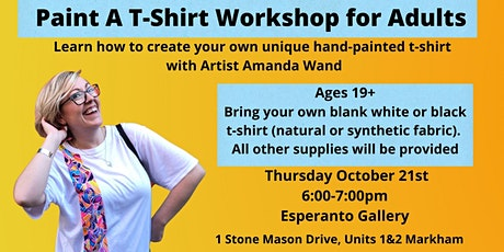 Paint A T-Shirt Workshop for Adults tickets