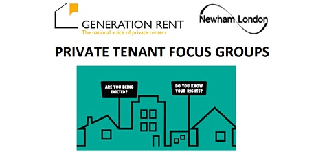 Private Tenant Focus Groups - online tickets