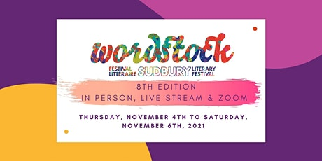 Wordstock Sudbury Literary Festival 8th Edition tickets