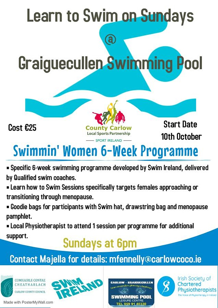 Swimmin Women 6-Week Programme Graiguecullen image