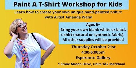 Paint A T-Shirt Workshop Kids tickets