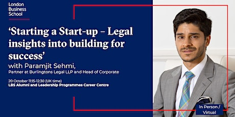 'Starting a Start-up – Legal insights into building for success' tickets