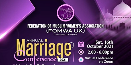 FOMWA UK Annual Marriage Conference 2021 tickets
